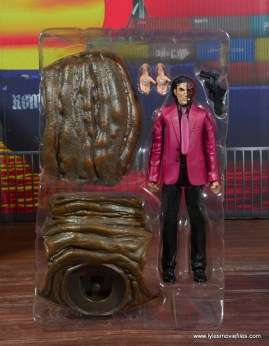 dc multiverse two-face figure review -accessories on tray