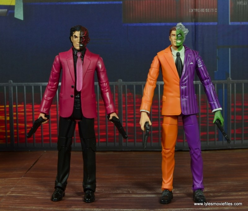dc multiverse two-face figure review -with dc classics two-face