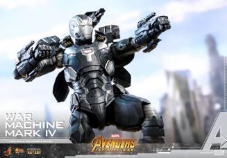 hot toys avengers infinity war war machine figure -aiming up