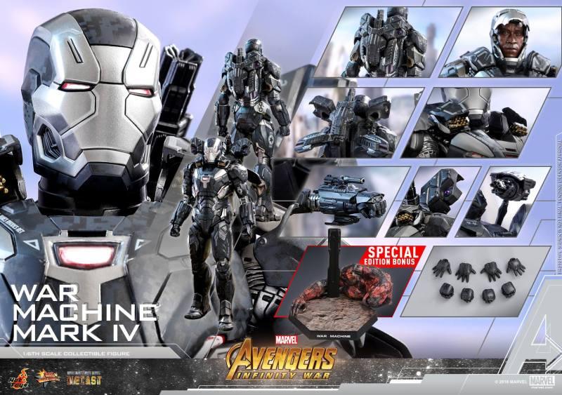 hot toys avengers infinity war war machine figure -collage