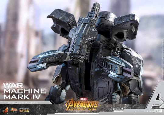 hot toys avengers infinity war war machine figure -flip out back pack