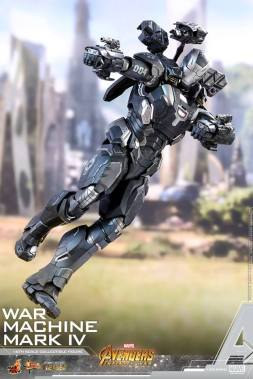 hot toys avengers infinity war war machine figure -flying and aiming