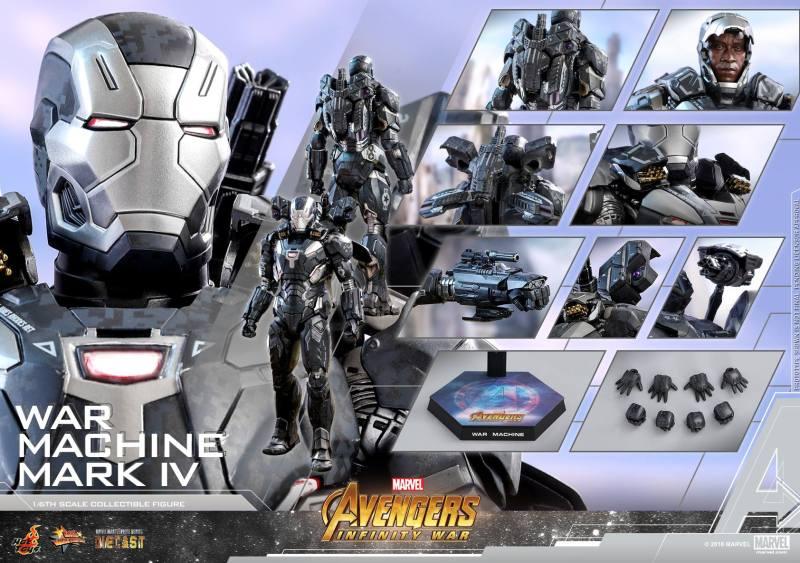 hot toys avengers infinity war war machine figure -regular collage