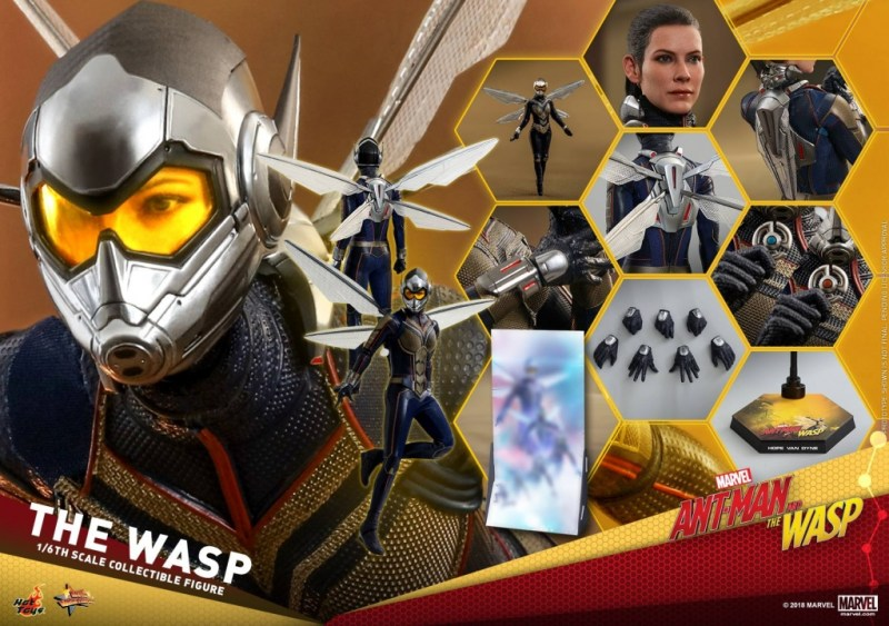 hot toys the wasp figure -collage