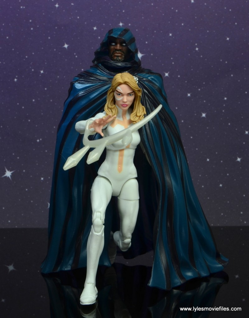 marvel legends cloak and dagger figure review - cloak and dagger on the attack
