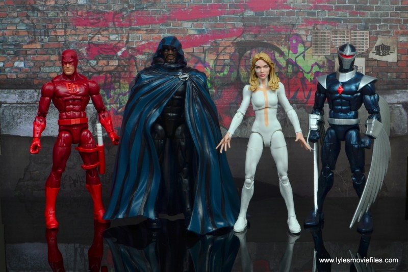 marvel legends cloak and dagger figure review - with daredevil and darkhawk