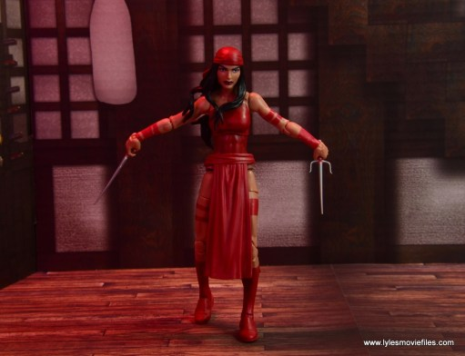 marvel legends elektra figure review -on the attack