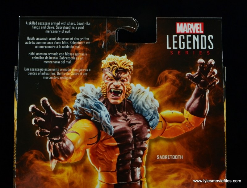 marvel legends sabretooth figure review - bio