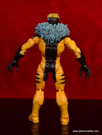 marvel legends sabretooth figure review - rear