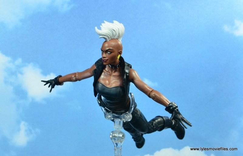 marvel legends storm figure review - flying