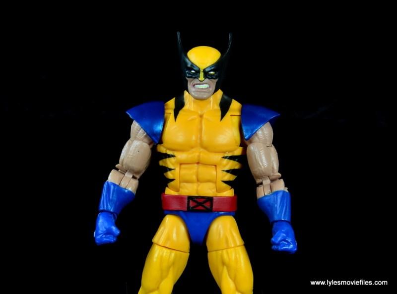 marvel legends wolverine figure review - close up shot