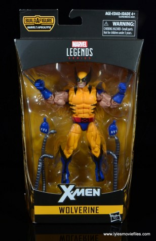 marvel legends wolverine figure review - package front