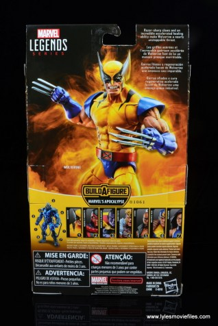 marvel legends wolverine figure review - package rear