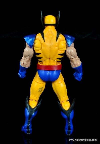 marvel legends wolverine figure review - rear