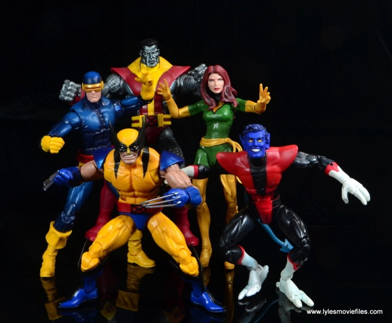marvel legends wolverine figure review - with cyclops, colossus, phoenix and nightcrawler
