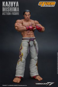 storm collectibles kazuya mishima figure - confident pose
