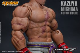 storm collectibles kazuya mishima figure - scarred chest
