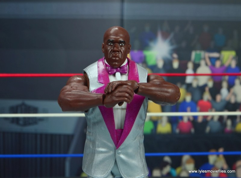 wwe elite virgil figure review -arms crossed