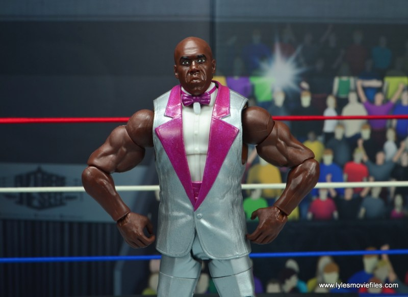 wwe elite virgil figure review -hands on hips