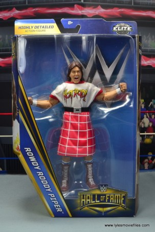 wwe hall of fame rowdy roddy piper figure review - package front