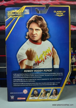 wwe hall of fame rowdy roddy piper figure review - package rear