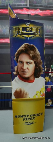 wwe hall of fame rowdy roddy piper figure review - package side