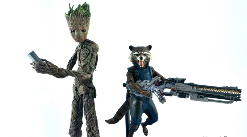 hot toys avengers infinity war groot and rocket review - main pic