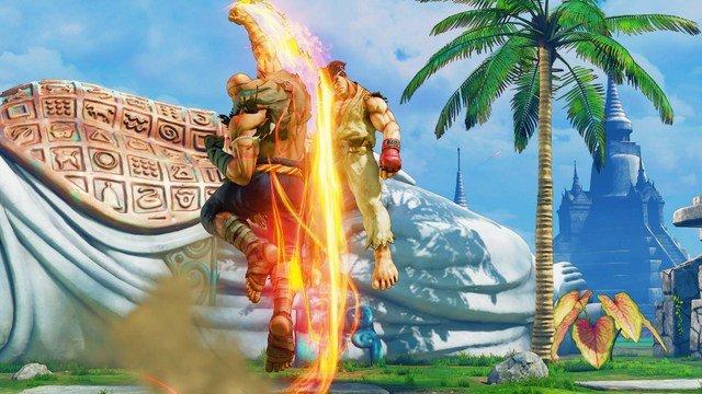 Street Fighter V Arcade Edition reveals Sagat - tiger punch to ryu