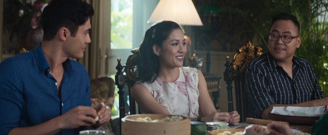 crazy rich asians movie review - henry golding, constance yu and nico santos