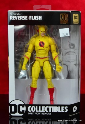 dc essentials reverse-flash figure flash - package front