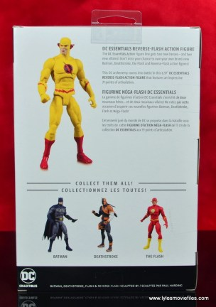 dc essentials reverse-flash figure flash - package rear
