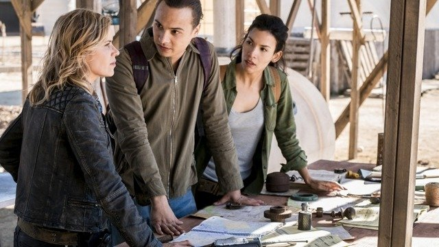 fear the walking dead buried review - madison, nick and luciana