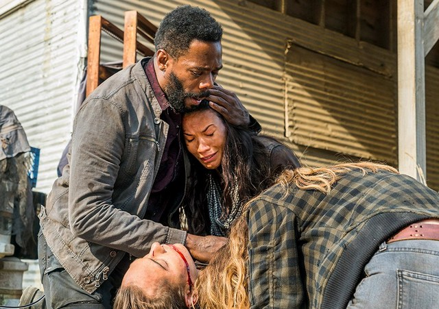 fear the walking dead good out here review - strand, luciana, alicia and nick