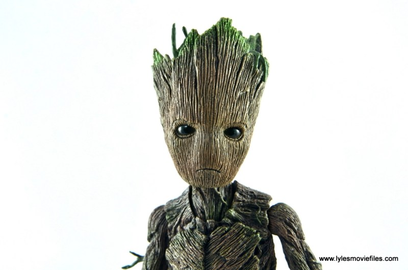 hot toys avengers infinity war groot and rocket review - groot head detail
