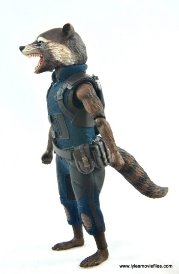 hot toys avengers infinity war groot and rocket review - rocket left side