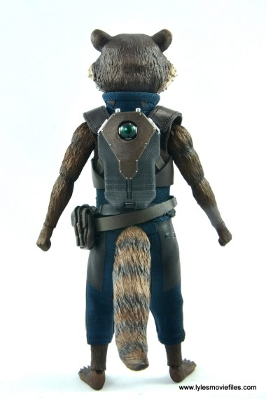 hot toys avengers infinity war groot and rocket review - rocket rear