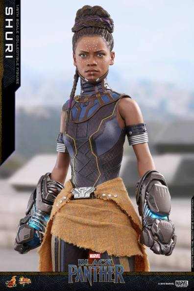 hot toys black panther shuri figure - standing tall