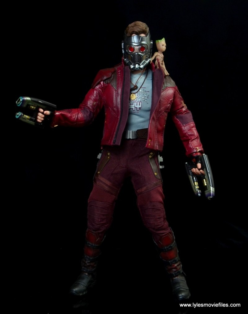 hot toys guardians of the galaxy vol. 2 star-lord figure review battle ready with baby groot