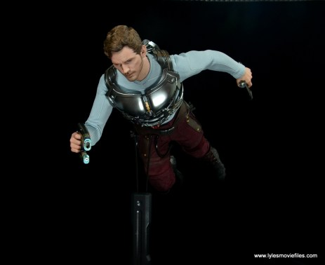hot toys guardians of the galaxy vol. 2 star-lord figure review flying