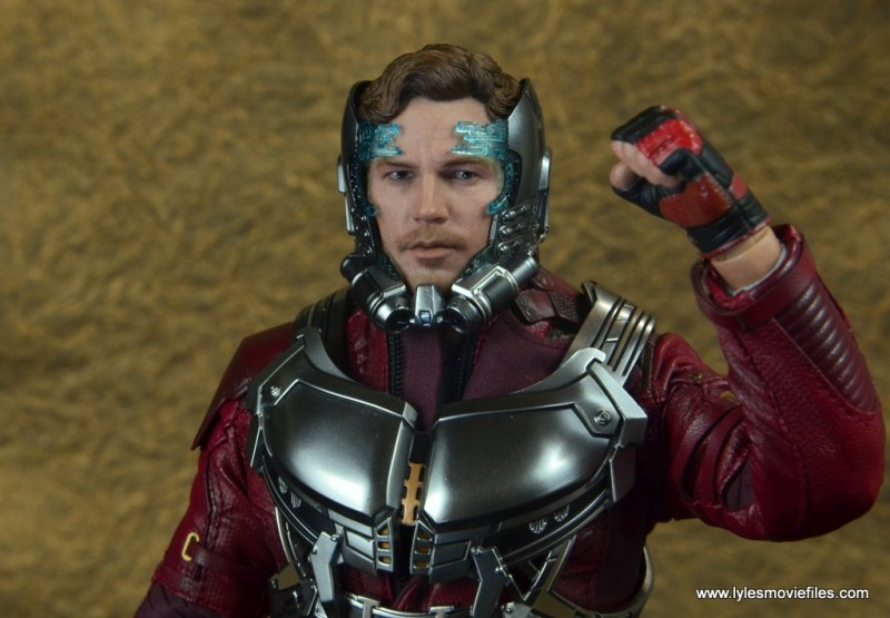 hot toys guardians of the galaxy vol. 2 star-lord figure review -transition helmet