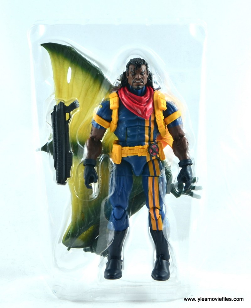 marvel legends bishop action figure review - figure in tray