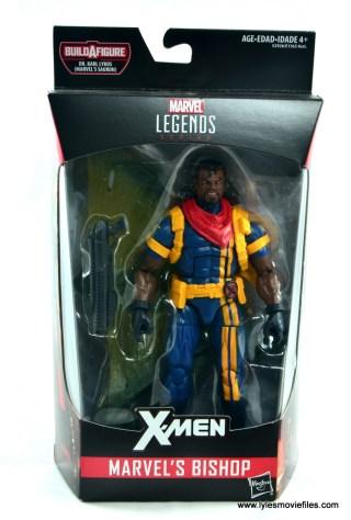 marvel legends bishop action figure review - package front