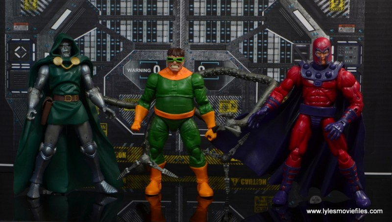 marvel legends doctor octopus figure review - with dr. doom and magneto