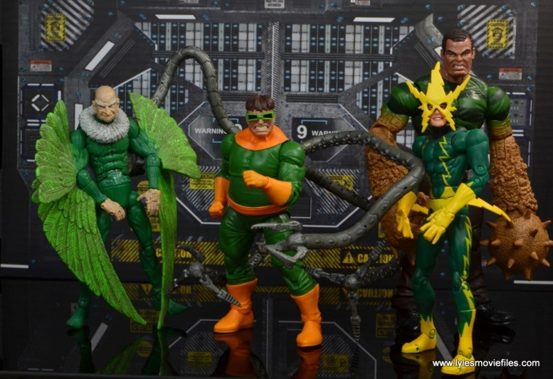 marvel legends doctor octopus figure review - with toy biz vulture, electro and hasbro sandman