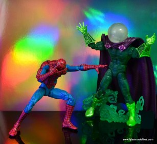 marvel legends mysterio figure review - spider-man overwhelmed