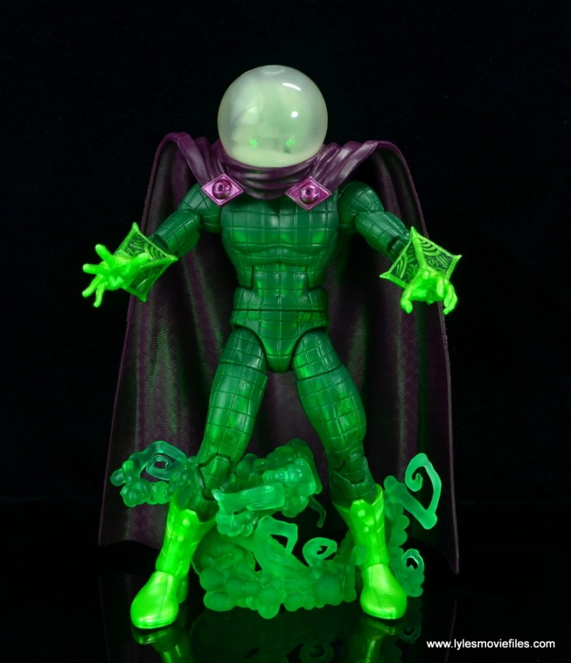 marvel legends mysterio figure review - standing in base