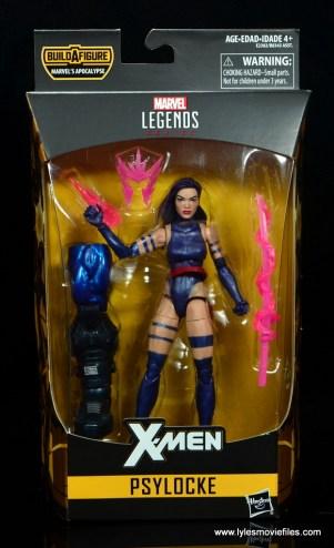 marvel legends psylocke figure review - package front