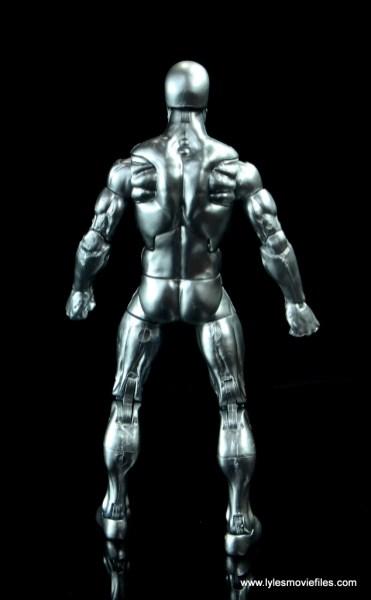 marvel legends silver surfer figure review - rear