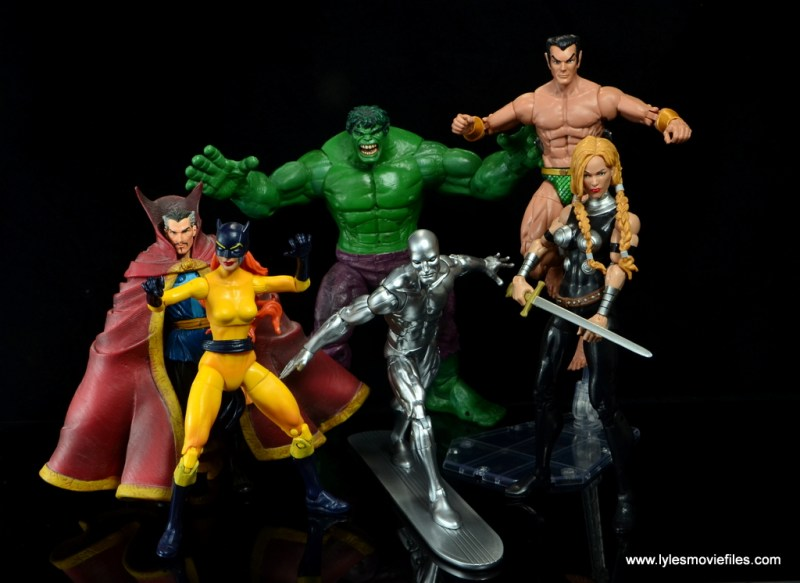 marvel legends silver surfer figure review - with the defenders