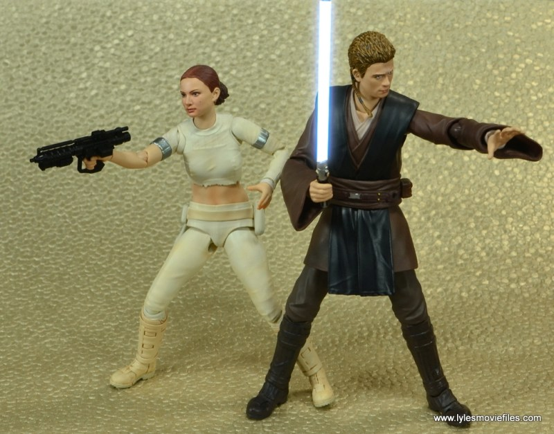 sh figuarts anakin skywalker figure review -side to side with padme lightsaber